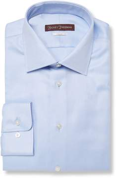 Hickey Freeman Men's Classic Fit Satin Cotton Dress Shirt