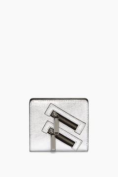 Rebecca Minkoff Half Snap Wallet - SILVER - STYLE