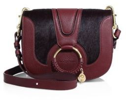 See by Chloe Hana Small Leather & Calf Hair Crossbody Bag