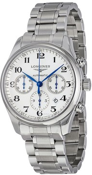 Longines Master Collection Automatic Chronograph White Dial Stainless Steel Men's Watch
