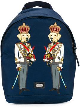 Dolce & Gabbana Kids dog print backpack
