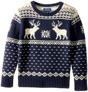 Polo Ralph Lauren Reindeer Cotton-Wool Sweater Boy's Sweater