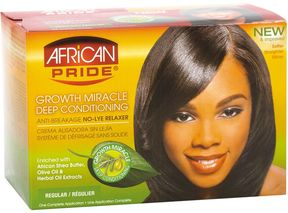 African Pride Deep Conditioning No Lye Super Relaxer System