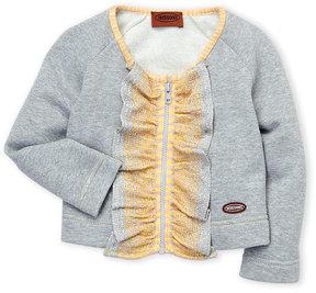 Missoni Toddler Girls) Metallic Ruffle Zip Sweatshirt