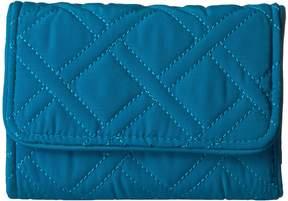 Vera Bradley Rfid Riley Compact Wallet Wallet Handbags - BAHAMA BAY - STYLE