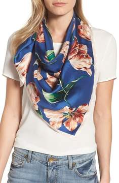 Echo Buckingham Tulips Silk Square Scarf