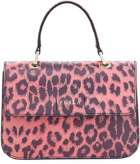 Furla Ottavia Small Leopard Top Handle Bag