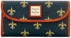Dooney & Bourke New Orleans Saints Large Continental Clutch - BLACK - STYLE