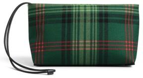 Burberry Tartan Zip Clutch - Green - GREEN - STYLE