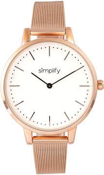 Simplify Rose Gold & Silver The 5800 Mesh Bracelet Watch