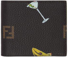 Fendi Brown Multi Print Forever Wallet