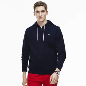 Lacoste Men's Full Zip Fleece Hooded Sweatshirt