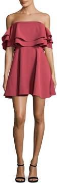 Keepsake Women's Two Fold Flounced Flared Dress