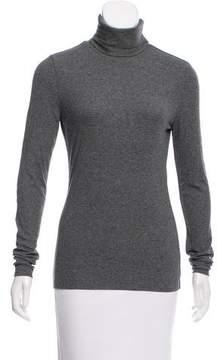 White + Warren Rib-Knit Long Sleeve Top