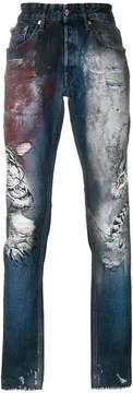Just Cavalli tiger print jeans