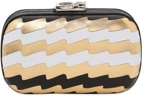 Susan Pleated Leather Metal Clutch