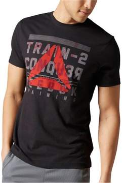Reebok Mens Train 2 Conquer Graphic T-Shirt Black S
