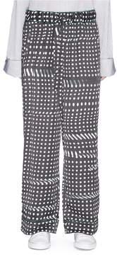 Facetasm Dot print wide leg pyjama pants