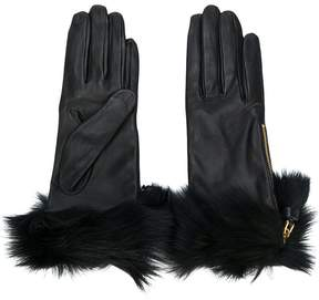 Prada fur trimmed gloves