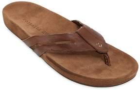John Varvatos Suede Leather Flip Flops