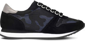 Carvela Libby camouflage suede trainers
