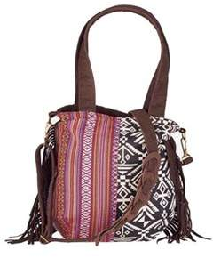 San Diego Hat Company Women's Ethnic Print Crossbody Tote Bsb1545.
