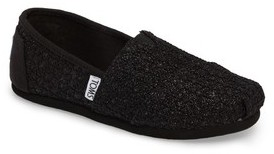 Toms Girl's Lace Glimmer Slip-On