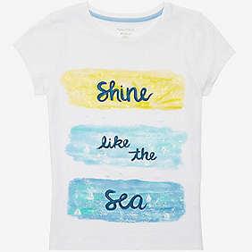 Nautica Girls' Shine Like The Sea Tee (8-16)