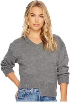 J.o.a. Asymmetric Knit Top Women's Long Sleeve Pullover