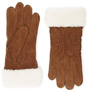 Forever 21 Suede Faux Shearling Gloves