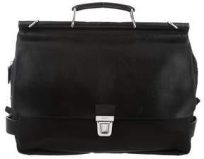 Tumi Leather & Canvas Briefcase