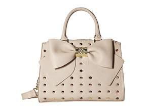 Betsey Johnson Triple Entry Studded Satchel Satchel Handbags
