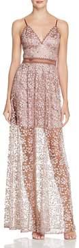 Aqua Embellished Embroidered Maxi Dress - 100% Exclusive