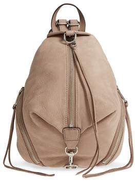 Rebecca Minkoff Medium Julian Nubuck Backpack - BEIGE - STYLE