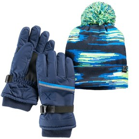 ZeroXposur Boys 4-18 Equinox Hat & Gloves Set