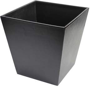 Royce Leather Executive Waste Paper Basket - Black