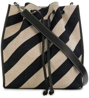 J.W.Anderson striped Drawstring bucket bag