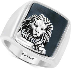Effy Men's Hematite (19 x 15-1/2mm) Lion Ring in Sterling Silver