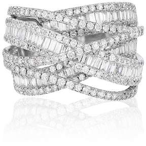 Effy Jewelry Effy Limited Edition 14K White Gold Diamond Cross Over Ring, 2.75 TCW
