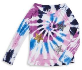 Flapdoodles Little Girl's Tie Dye Sweater