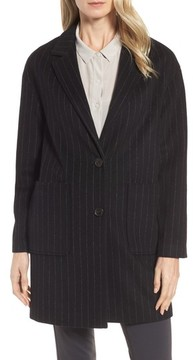 Donna Karan Women's Dkny Pinstripe Wool Blend Coat