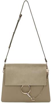 Chloé Grey Medium Faye Shoulder Bag