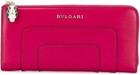 Bulgari logo plaque wallet
