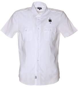 Blauer Men's White Cotton Shirt.