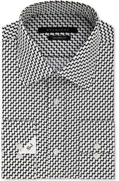 Sean John Men's Classic/Regular Fit Black Print Dress Shirt