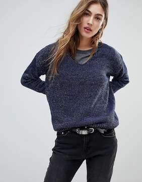 Blend She Marlene Metallic Yarn Knit Sweater
