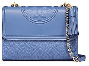Tory Burch Fleming Convertible Shoulder Bag - BLUE LOTUS - STYLE