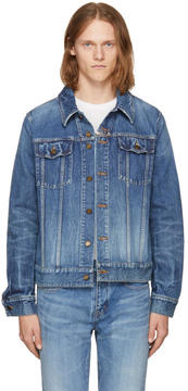 Saint Laurent Blue Washed Denim Jacket