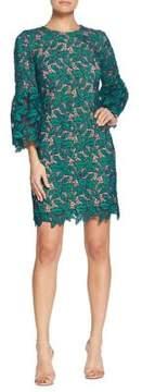 Dress the Population Lace Leaf Bell Sleeve Dress