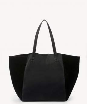 Sole Society Wesley Slouchy Tote w/ Genuine Suede Gussets
